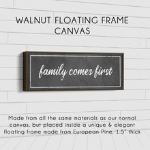 Load image into Gallery viewer, CUSTOM QUOTE SIGN (EXTRA WIDE) (MORE COLORS AVAILABLE) Denver to Dallas WALNUT FRAMED CANVAS 8X24