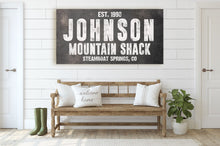 Load image into Gallery viewer, CUSTOM RUST BLACK FAMILY NAME SIGN (WIDE) Denver to Dallas