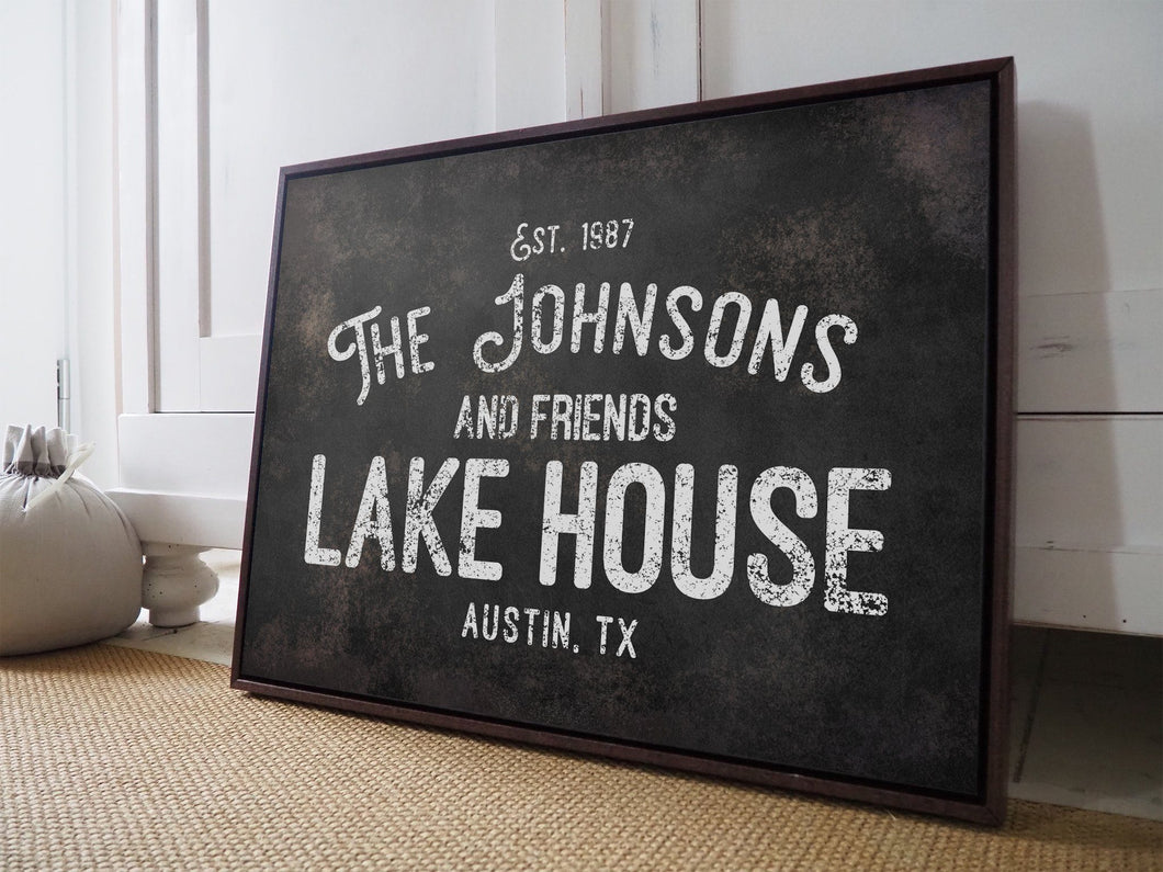 CUSTOM RUST BLACK VINTAGE FAMILY SIGN CUSTOM GIFT PRINTS DenverToDallas