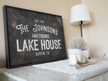 Load image into Gallery viewer, CUSTOM RUST BLACK VINTAGE FAMILY SIGN CUSTOM GIFT PRINTS DenverToDallas