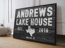 Load image into Gallery viewer, CUSTOM RUSTIC FAMILY DETAILS BLACK FAUX WOOD SIGN CUSTOM GIFT PRINTS DenverToDallas