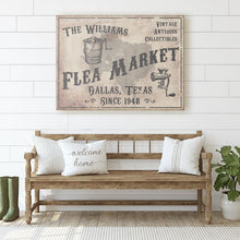 Load image into Gallery viewer, CUSTOM VINTAGE FLEA MARKET SIGN CUSTOM GIFT PRINTS DenverToDallas