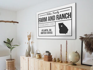 CUSTOM FARMHOUSE FAMILY PLAIN WHITE SIGN