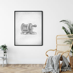 FISHING REEL POSTER (Printable!) Denver to Dallas