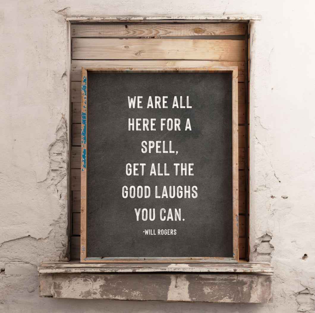 Good Laughs Will Rogers Quote Print CUSTOM GIFT PRINTS DenverToDallas