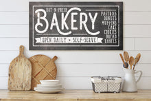 Load image into Gallery viewer, HOT-N-FRESH BAKERY SIGN (RUST BLACK) (WIDE) Denver to Dallas CANVAS WRAP 10X20