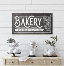 Load image into Gallery viewer, HOT-N-FRESH BAKERY SIGN (RUST BLACK) (WIDE) Denver to Dallas
