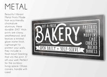 Load image into Gallery viewer, HOT-N-FRESH BAKERY SIGN (RUST BLACK) (WIDE) Denver to Dallas METAL 10X20