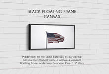 Load image into Gallery viewer, Old Glory Denver to Dallas BLACK FLOATING FRAME CANVAS 10X20