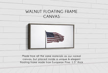 Load image into Gallery viewer, Old Glory Denver to Dallas WALNUT FLOATING FRAME CANVAS 10X20
