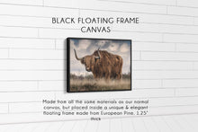 Load image into Gallery viewer, The Bull (#2) Print CUSTOM GIFT PRINTS DenverToDallas BLACK FRAMED CANVAS 12X16