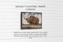 Load image into Gallery viewer, The Bull (#2) Print CUSTOM GIFT PRINTS DenverToDallas WALNUT FRAMED CANVAS 12X16
