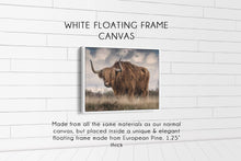 Load image into Gallery viewer, The Bull (#2) Print CUSTOM GIFT PRINTS DenverToDallas WHITE FRAMED CANVAS 12X16