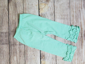 """Icings"" Ruffle Pants-Teal"