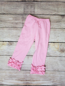 """Icings"" Ruffle Pants-Pink"