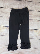 "Load image into Gallery viewer, ""Icings"" Ruffle Pants-Black"