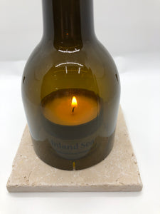 Candle Lamp Kit - Wine Bottle and Travertine Marble