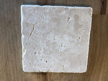 Load image into Gallery viewer, Travertine Marble Candle Coaster - Surface Protector