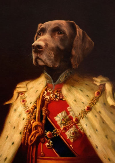 THE KING EDWARD - CUSTOM PET PORTRAIT portrait-my-pet.com