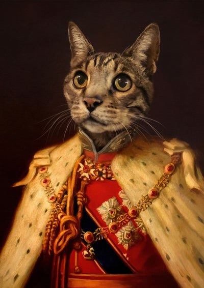 THE KING EDWARD - CUSTOM PET PORTRAIT