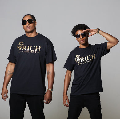 Rich U Mens Signature Collection Black & Gold High Quality