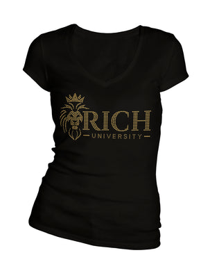Bling Rich University V-Neck