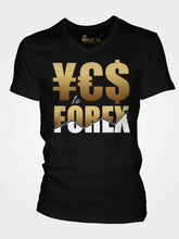 Load image into Gallery viewer, YES to FOREX Unisex Short Sleeve V-Neck T-Shirt