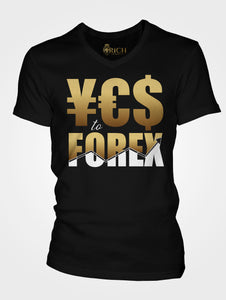 YES to FOREX Unisex Short Sleeve V-Neck T-Shirt