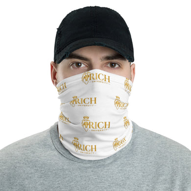 Rich University White Face Mask Covering
