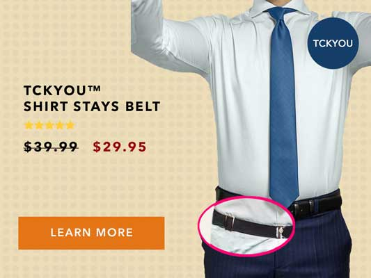 How to keep your shirt tucked in with a shirt stays belt