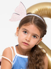 Load image into Gallery viewer, FLYING BUTTERFLY  HEADBAND - LEATHER - GLITTER
