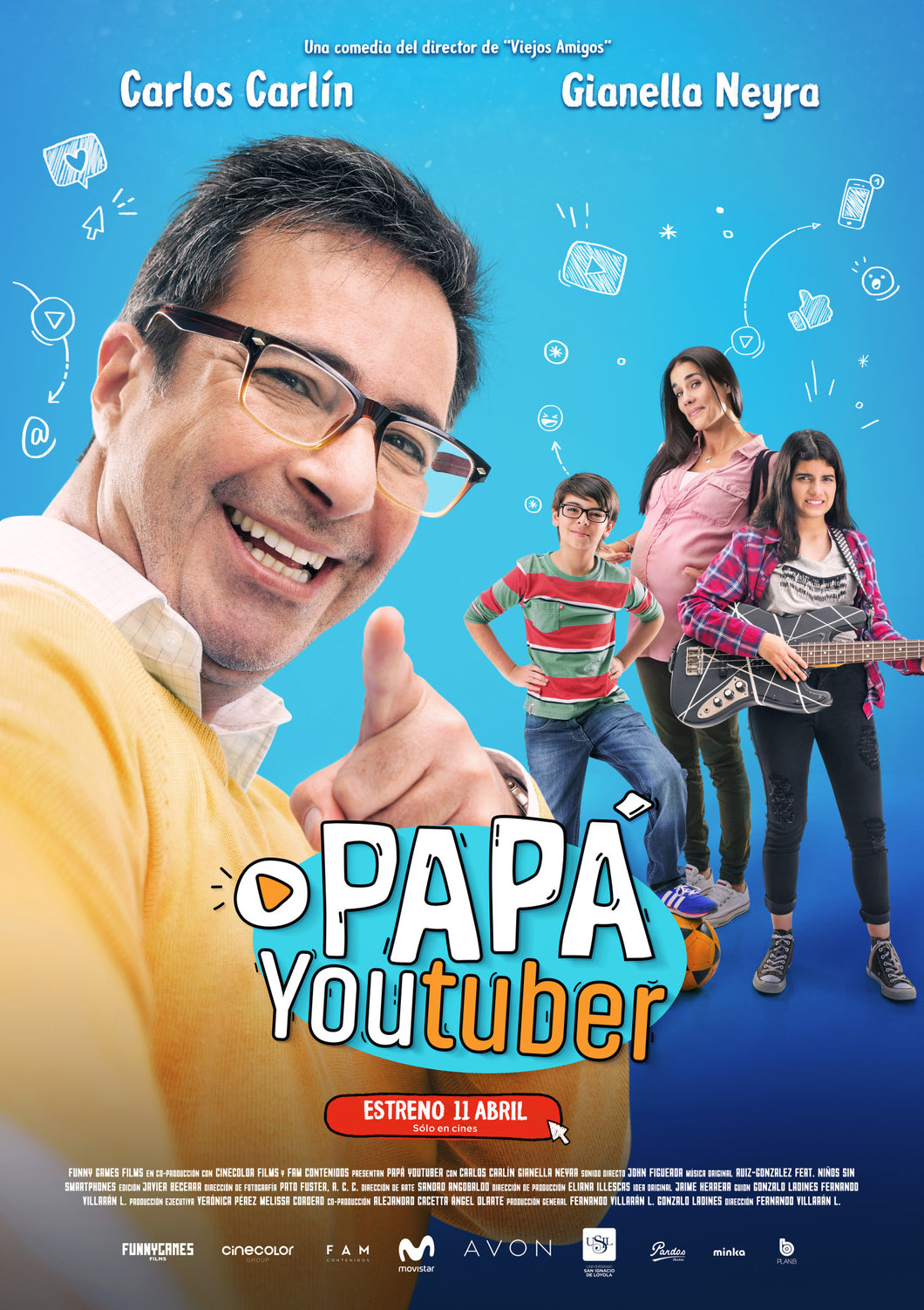 Poster Pelicula Papá Youtuber