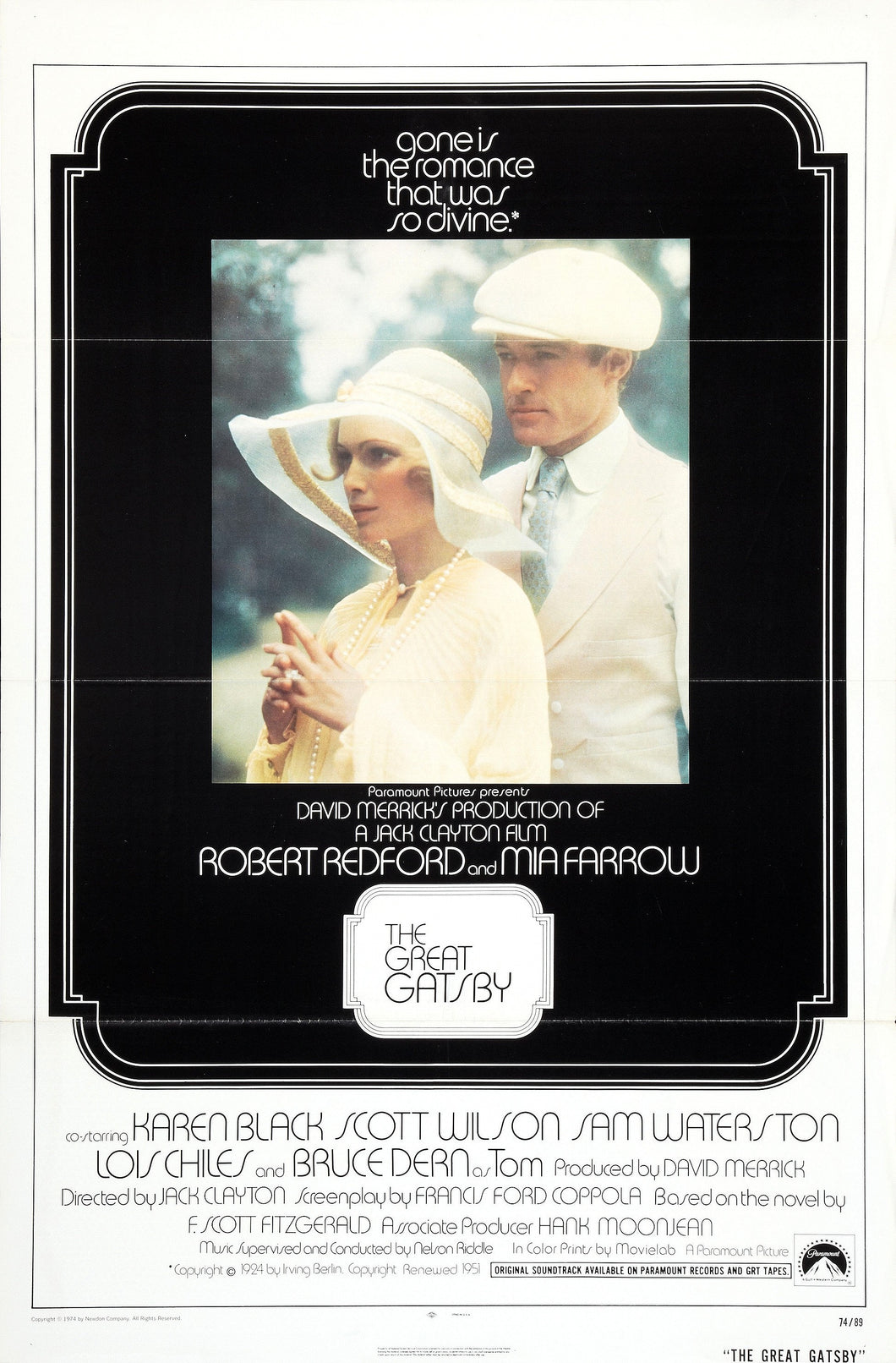 Poster Película The Great Gatsby 1974