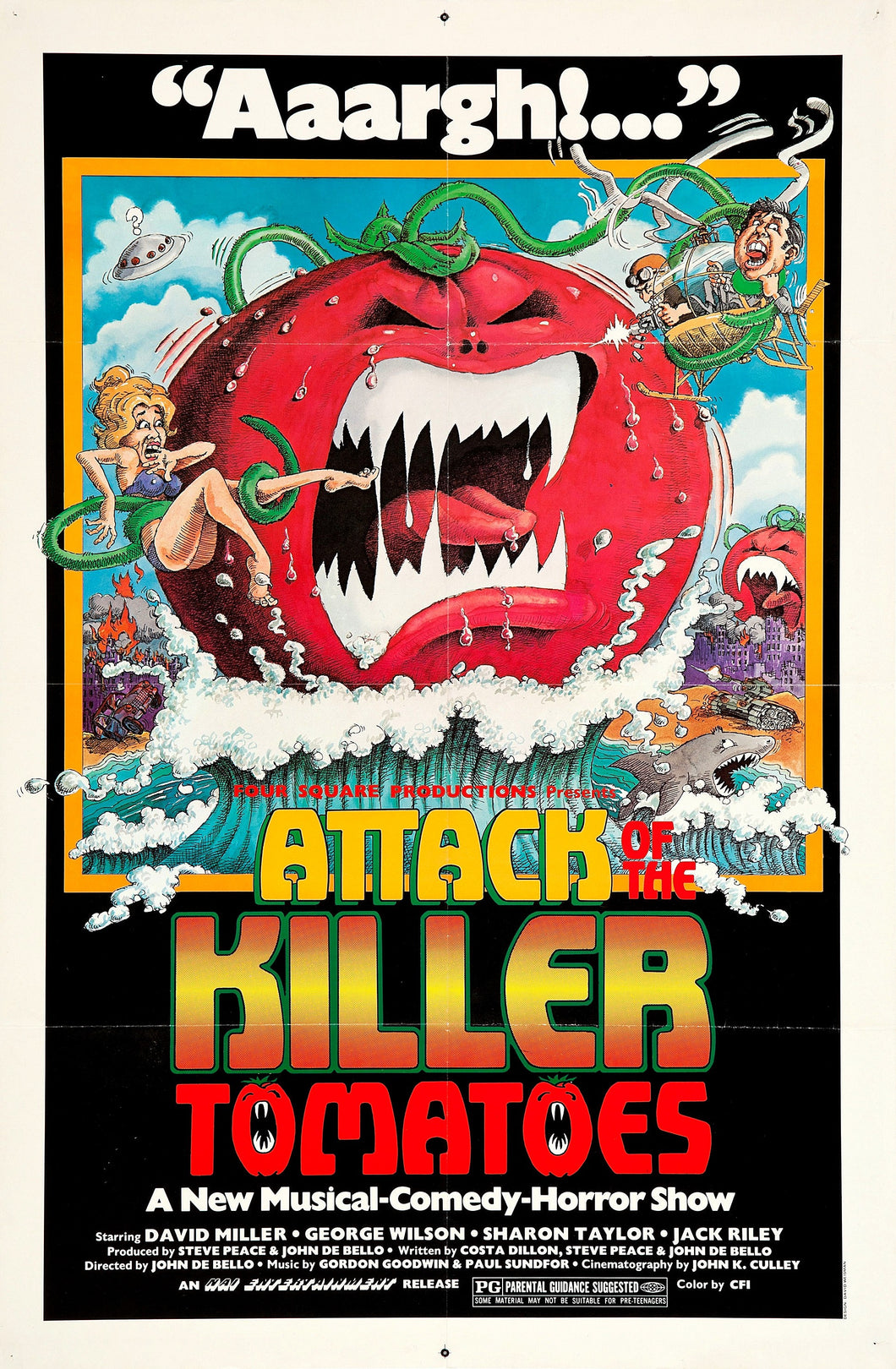 Poster Película Attack of the Killer Tomatoes!