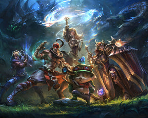 Poster Videojuego League of Legends