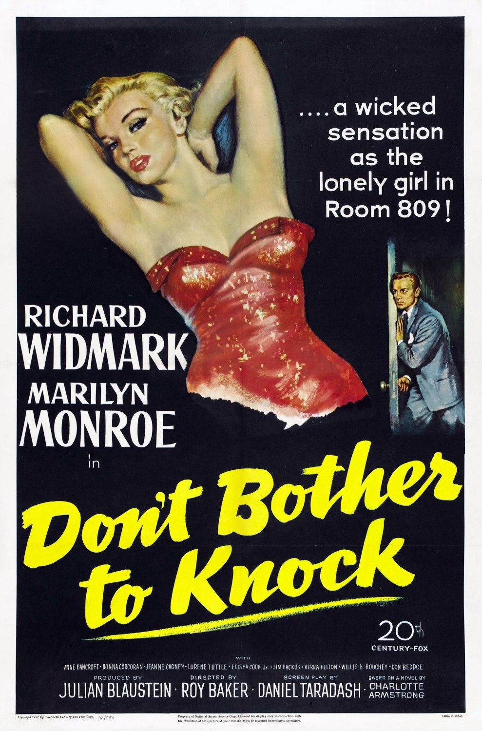 Poster Película Don't Bother to Knock