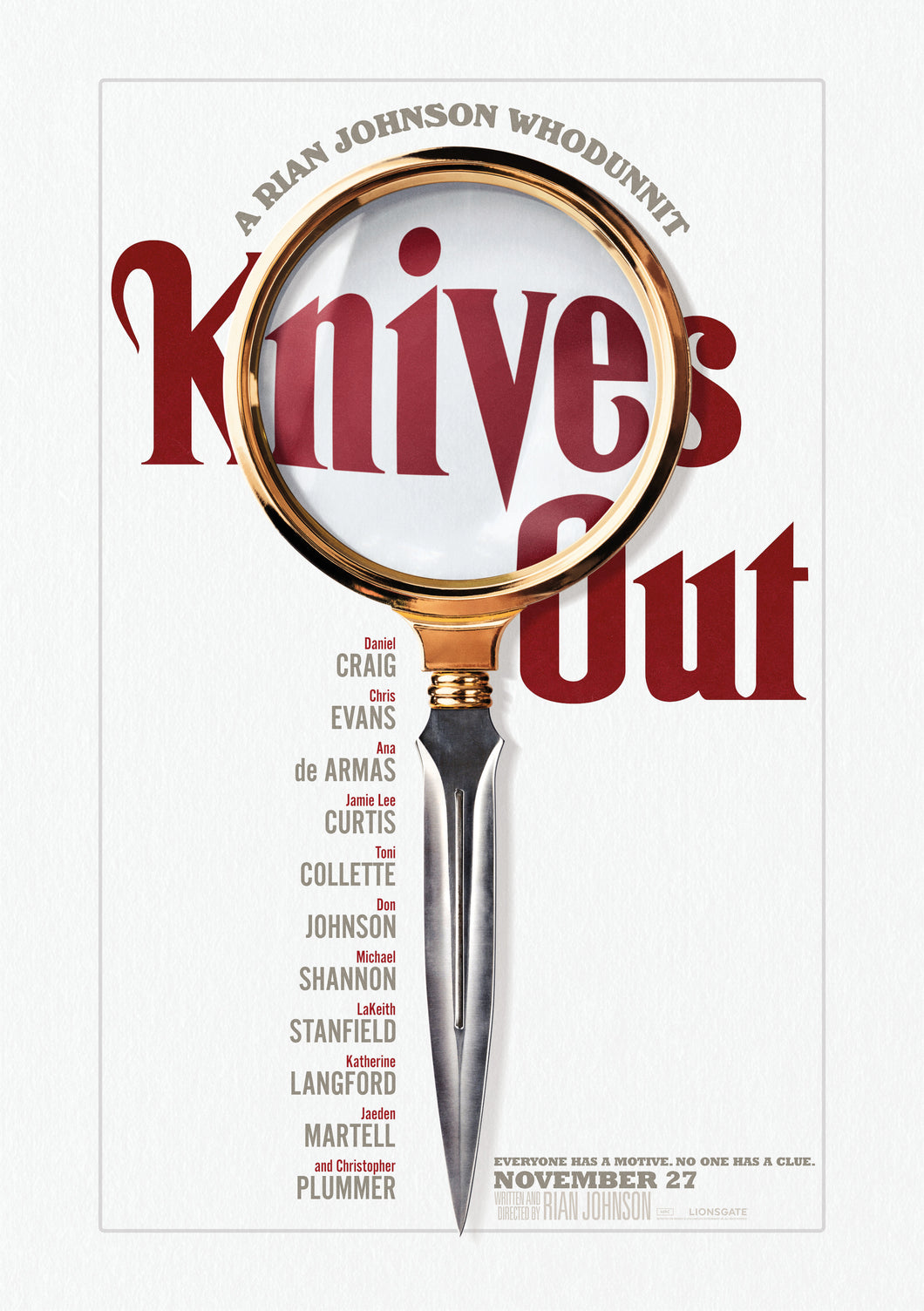 Poster Pelicula Knives Out
