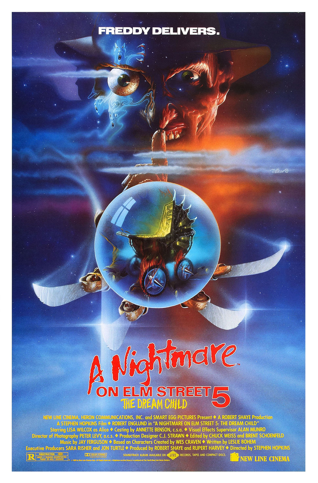 Poster Pelicula A Nightmare on Elm Street Part 5: The Dream Child