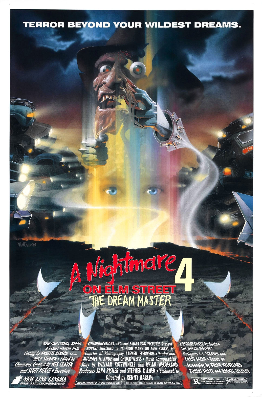 Poster Pelicula A Nightmare on Elm Street Part 4: The Dream Master