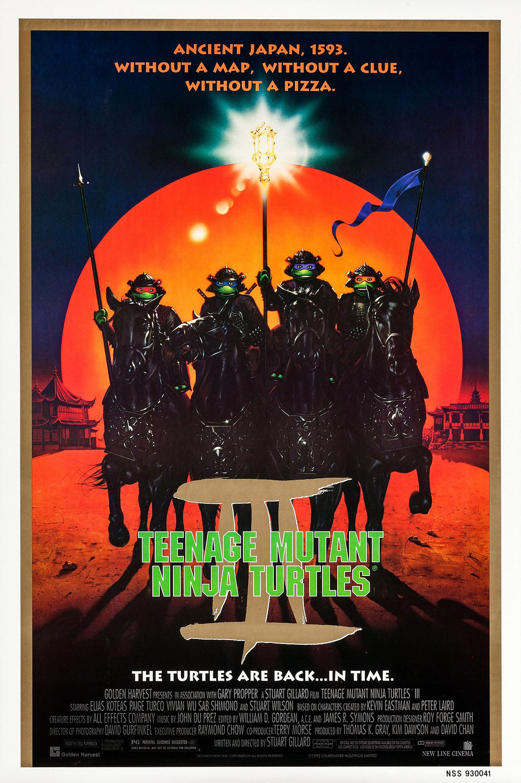 Poster Pelicula Teenage Mutant Ninja Turtles III