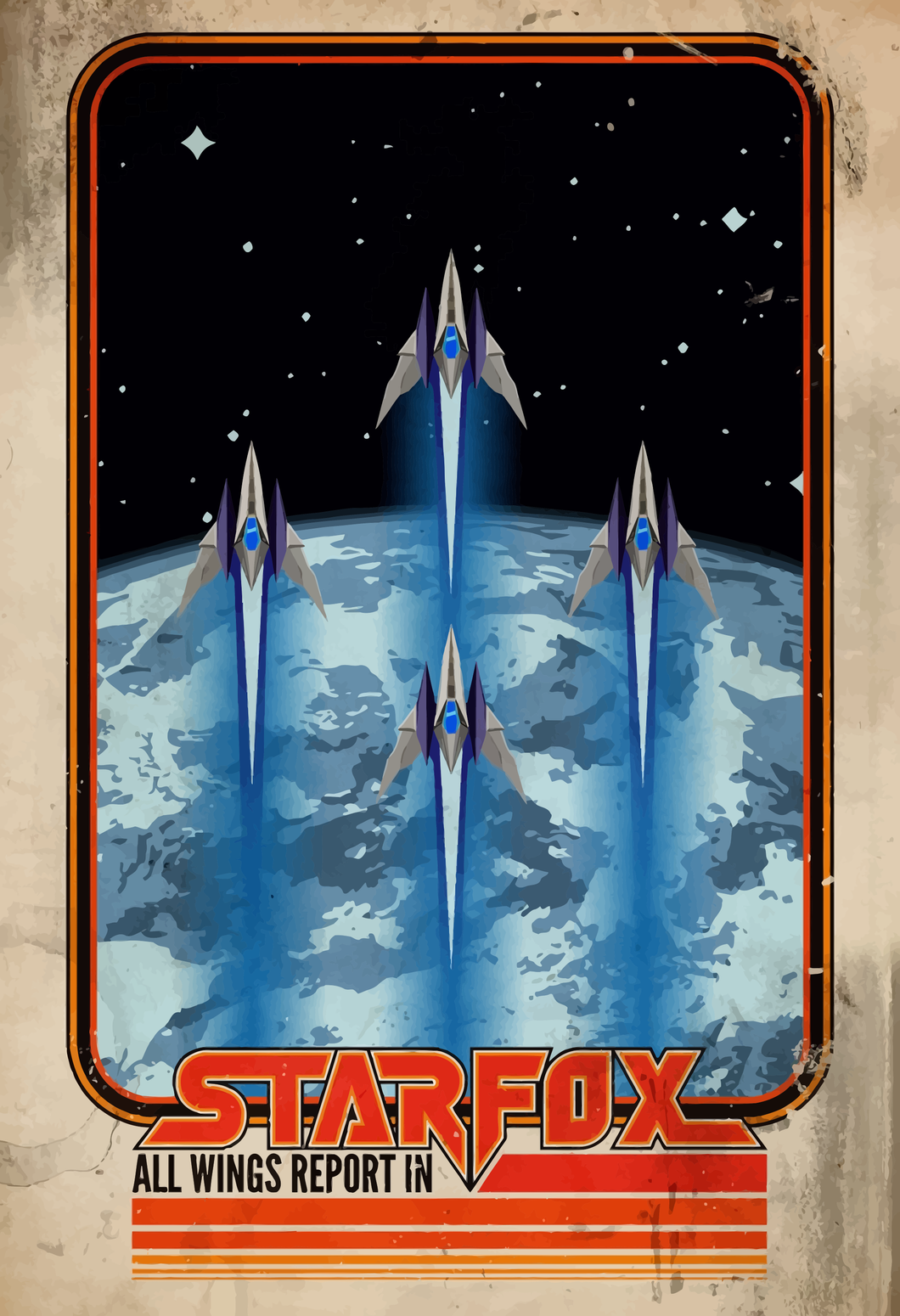 Poster Juego Star Fox 8
