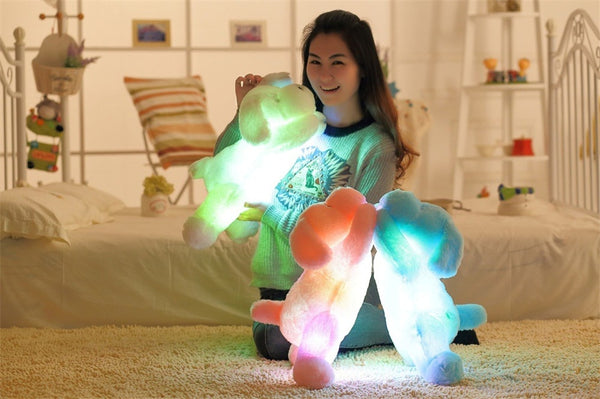 "Adorable 20"" LED Puppy Dog Plush Toy Pillow - 3 Colors"