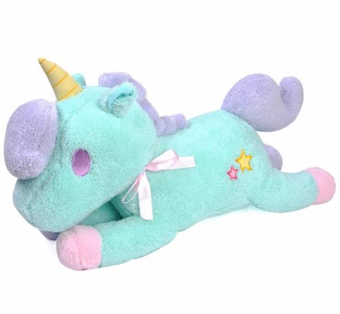 Cute Unicorn Star Plush Toy Pillow - Blue or Pink