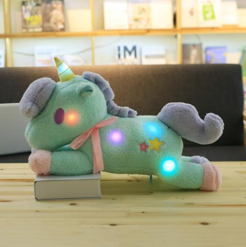 Cute LED Unicorn Star Plush Toy Pillow - Blue or Pink