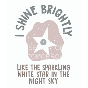 Seeds for tomorrow colour affirmation - I shine brightly - dusk