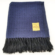 Blue/Black Alpaca Blanket