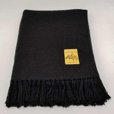 Black Alpaca Blanket