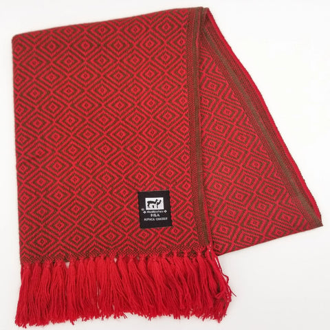 Red Alpaca Scarf