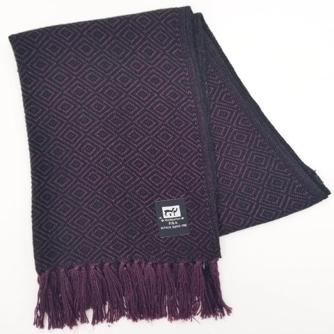 Dark Purple/Black Alpaca Scarf