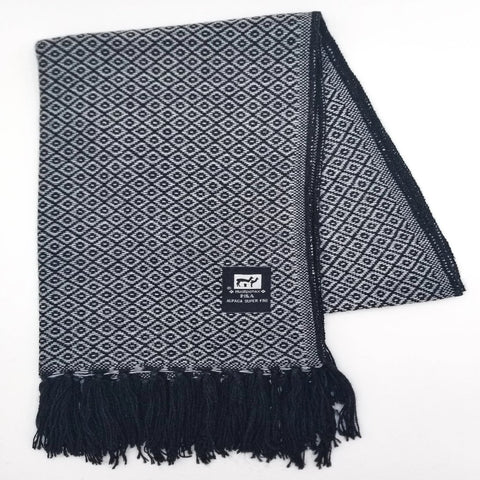 Light Gray/Black Alpaca Scarf